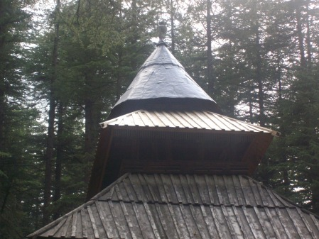In the Deodar woods, stands a nice wooden structure